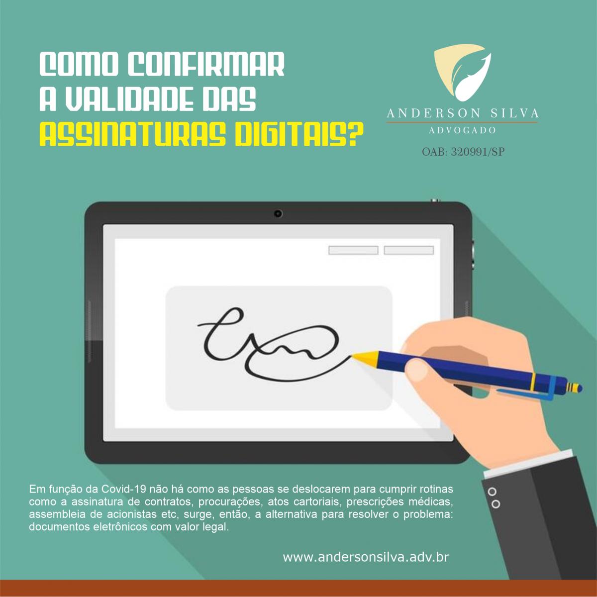 Como confirmar a validade das assinaturas digitais?
