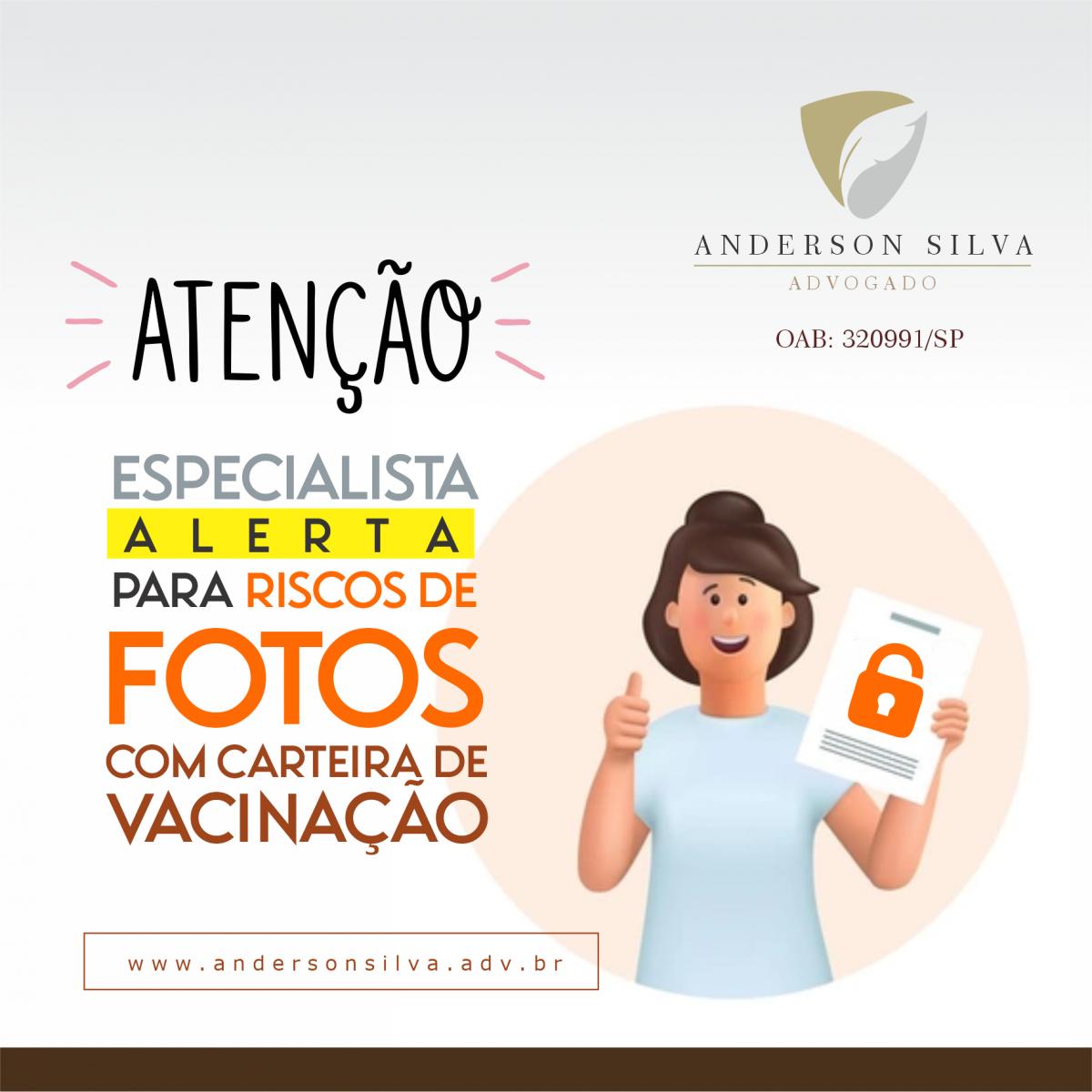 Especialista alerta para riscos de fotos com carteira de vacinação